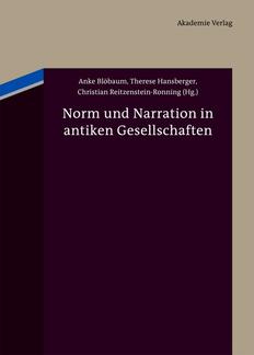 Norm und Narration in antiken Gesellschaften (Umschlag)